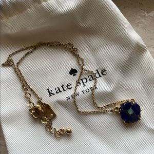 Kate spade ♠️ blue flower necklace